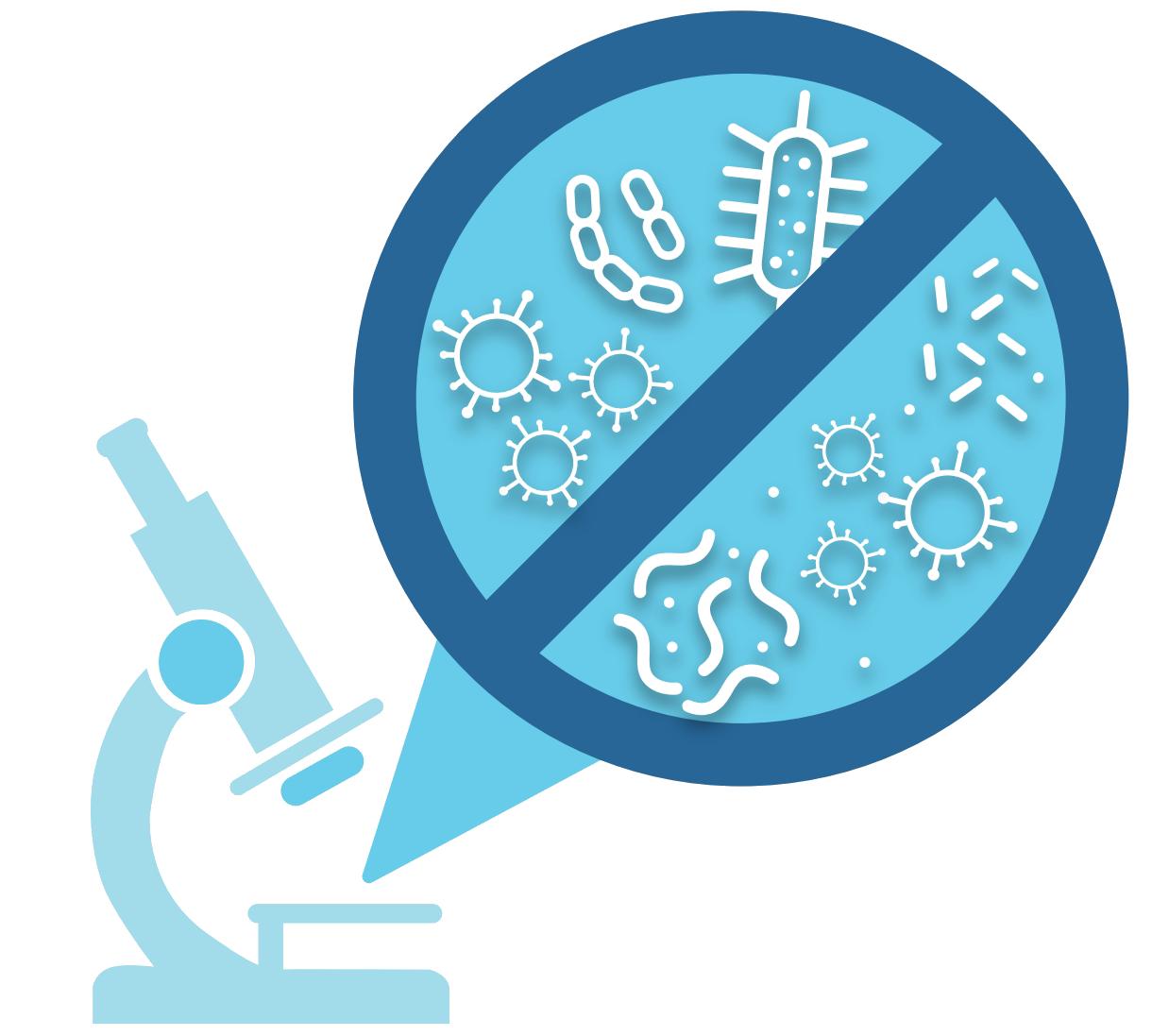 Das Bild zeigt organisches Wachstum unter dem Mikroskop